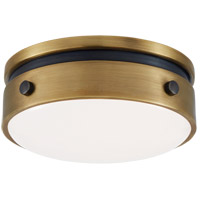 Visual Comfort TOB4062BZ/HAB-WG Thomas Obrien Hicks LED 6 inch Bronze and Hand-Rubbed Antique Brass Flush Mount Ceiling Light, Petite