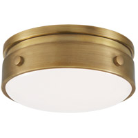 Visual Comfort TOB4062HAB-WG Thomas OBrien Hicks LED 6 inch Hand-Rubbed Antique Brass Flush Mount Ceiling Light Petite