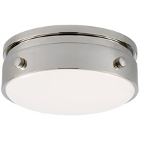 Visual Comfort TOB4062PN-WG Thomas O'Brien Hicks LED 6 inch Polished Nickel Flush Mount Ceiling Light, Petite