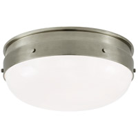 Visual Comfort TOB4063AN-WG Thomas O'Brien Hicks 2 Light 13 inch Antique Nickel Flush Mount Ceiling Light, Small
