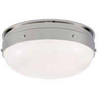 Visual Comfort TOB4063PN-WG Thomas O'Brien Hicks 2 Light 13 inch Polished Nickel Flush Mount Ceiling Light, Small
