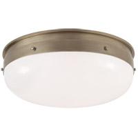 Visual Comfort TOB4064AN-WG Thomas O'Brien Hicks 1 Light 17 inch Antique Nickel Flush Mount Ceiling Light, Medium