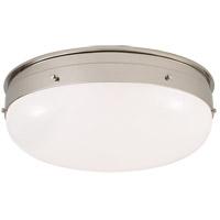 Visual Comfort TOB4064PN-WG Thomas O'Brien Hicks 1 Light 17 inch Polished Nickel Flush Mount Ceiling Light, Medium
