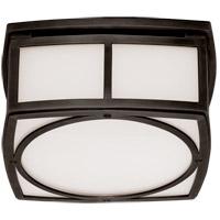 Visual Comfort TOB4072BZ-WG Thomas OBrien Winston 9 inch Bronze Flush Mount Ceiling Light, Thomas O''Brien, Small, White Glass