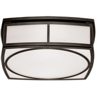 Thomas OBrien Winston 2 Light 13 inch Bronze Flush Mount Ceiling Light, Thomas O'Brien, Large, White Glass