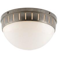 Visual Comfort TOB4084AN-WG Thomas OBrien Hicks 2 Light 14 inch Antique Nickel Flush Mount Ceiling Light