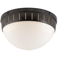 Visual Comfort TOB4084BZ-WG Thomas OBrien Hicks 2 Light 14 inch Bronze Flush Mount Ceiling Light