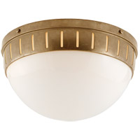 Visual Comfort TOB4084HAB-WG Thomas OBrien Hicks 2 Light 14 inch Hand-Rubbed Antique Brass Flush Mount Ceiling Light