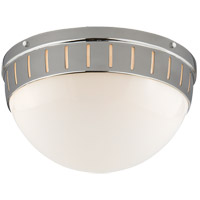 Visual Comfort TOB4084PN-WG Thomas OBrien Hicks 2 Light 14 inch Polished Nickel Flush Mount Ceiling Light