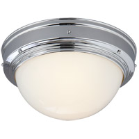 Visual Comfort Thomas OBrien Pelham Moon 1 Light Flush Mount in Chrome TOB4100CH