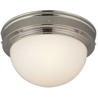Visual Comfort Thomas OBrien Pelham Moon 1 Light Flush Mount in Polished Nickel TOB4100PN
