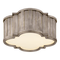 Visual Comfort Thomas OBrien Tilden 2 Light Flush Mount in Antique Nickel TOB4130AN-WG