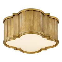 Visual Comfort Thomas OBrien Tilden 2 Light Flush Mount in Hand-Rubbed Antique Brass TOB4130HAB-WG