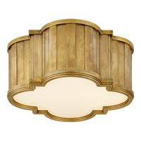 Visual Comfort TOB4130HAB-WG Thomas OBrien Tilden 2 Light 11 inch Hand-Rubbed Antique Brass Flush Mount Ceiling Light