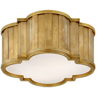 Visual Comfort TOB4130HAB-WG Thomas O'Brien Tilden 2 Light 11 inch Hand-Rubbed Antique Brass Flush Mount Ceiling Light