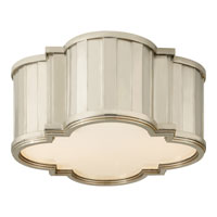 Visual Comfort Thomas OBrien Tilden 2 Light Flush Mount in Polished Nickel TOB4130PN-WG