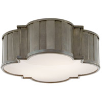 Thomas OBrien Tilden 3 Light 17 inch Antique Nickel Flush Mount Ceiling Light