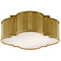 Visual Comfort TOB4131HAB-WG Thomas O'Brien Tilden 4 Light 17 inch Hand-Rubbed Antique Brass Flush Mount Ceiling Light