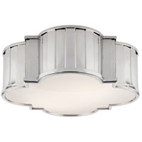 Thomas OBrien Tilden 3 Light 17 inch Polished Nickel Flush Mount Ceiling Light
