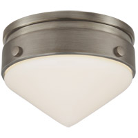 Visual Comfort TOB4155AN-WG Thomas Obrien Gale LED 6 inch Antique Nickel Flush Mount Ceiling Light, Petite
