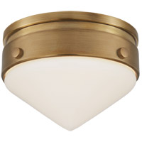 Visual Comfort TOB4155HAB-WG Thomas O'Brien Gale LED 6 inch Hand-Rubbed Antique Brass Flush Mount Ceiling Light, Petite
