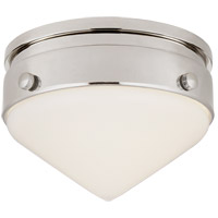 Visual Comfort TOB4155PN-WG Thomas Obrien Gale LED 6 inch Polished Nickel Flush Mount Ceiling Light, Petite
