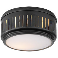 Visual Comfort TOB4160BZ-WG Thomas OBrien Eden 1 Light 8 inch Bronze Flush Mount Ceiling Light