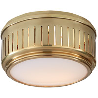 Visual Comfort TOB4160HAB-WG Thomas OBrien Eden 1 Light 8 inch Hand-Rubbed Antique Brass Flush Mount Ceiling Light