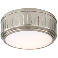 Thomas OBrien Eden 2 Light 10 inch Antique Nickel Flush Mount Ceiling Light