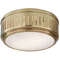 Thomas OBrien Eden 2 Light 10 inch Hand-Rubbed Antique Brass Flush Mount Ceiling Light