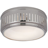 Thomas OBrien Eden 2 Light 10 inch Polished Nickel Flush Mount Ceiling Light