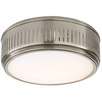 Thomas OBrien Eden 2 Light 13 inch Antique Nickel Flush Mount Ceiling Light