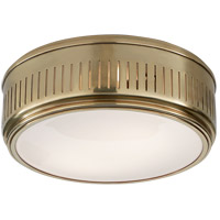 Thomas OBrien Eden 2 Light 13 inch Hand-Rubbed Antique Brass Flush Mount Ceiling Light