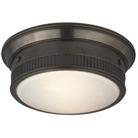 Visual Comfort Thomas OBrien Calliope 2 Light Flush Mount in Bronze with Wax TOB4203BZ