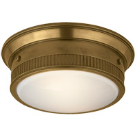 Visual Comfort TOB4203HAB Thomas OBrien Calliope 2 Light 12 inch Hand-Rubbed Antique Brass Flush Mount Ceiling Light