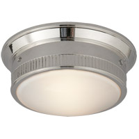 Visual Comfort Thomas OBrien Calliope 2 Light Flush Mount in Polished Nickel TOB4203PN