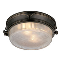 Visual Comfort Thomas OBrien Garey 2 Light Flush Mount in Bronze with Wax TOB4206BZ-CG