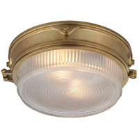 Thomas Obrien Garey 2 Light 11 inch Hand-Rubbed Antique Brass Flush Mount Ceiling Light