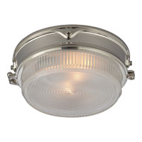 Visual Comfort Thomas OBrien Garey 2 Light Flush Mount in Polished Nickel TOB4206PN-CG