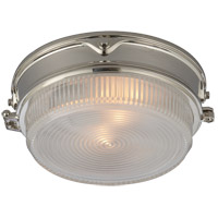 Thomas Obrien Garey 2 Light 11 inch Polished Nickel Flush Mount Ceiling Light