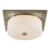 Visual Comfort Thomas OBrien Newhouse 2 Light Flush Mount in Antique Nickel TOB4216AN-WG