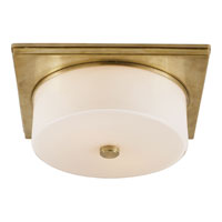Visual Comfort TOB4216HAB-WG Thomas OBrien Newhouse 2 Light 12 inch Hand-Rubbed Antique Brass Flush Mount Ceiling Light