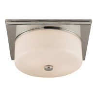 Visual Comfort Thomas OBrien Newhouse 2 Light Flush Mount in Polished Nickel TOB4216PN-WG