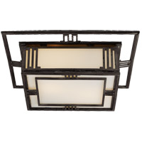 Visual Comfort TOB4220AI Thomas Obrien Enrique 2 Light 16 inch Aged Iron Flush Mount Ceiling Light
