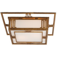 Visual Comfort Thomas OBrien Enrique 2 Light Flush Mount in Gilded Iron with Wax TOB4220GI