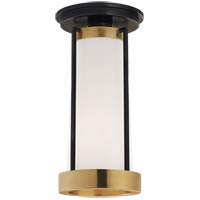 Visual Comfort TOB4275BZ/HAB-WG Thomas OBrien Calix LED 5 inch Bronze and Brass Flush Mount Ceiling Light Tall