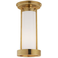 Visual Comfort TOB4275HAB-WG Thomas OBrien Calix LED 5 inch Hand-Rubbed Antique Brass Flush Mount Ceiling Light Tall