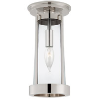 Visual Comfort TOB4275PN-CG Thomas O'Brien Calix 1 Light 5 inch Polished Nickel Flush Mount Ceiling Light, Tall