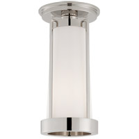 Visual Comfort TOB4275PN-WG Thomas OBrien Calix LED 5 inch Polished Nickel Flush Mount Ceiling Light Tall
