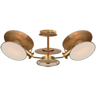 Thomas OBrien Osiris 3 Light 25 inch Hand-Rubbed Antique Brass Semi-Flush Mount Ceiling Light, Medium Reflector